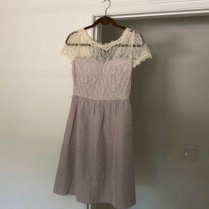 BDHLN Gray and Cream Dress